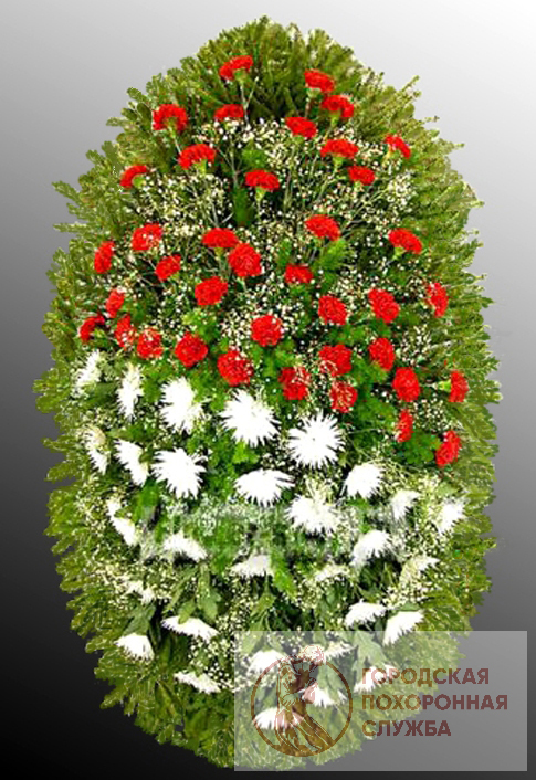 Траурный венок из живых цветов №13