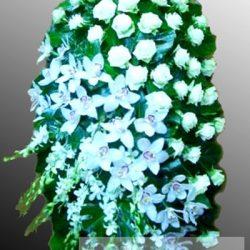 Фото 25 - Траурный венок из живых цветов ВЖЦ-23.