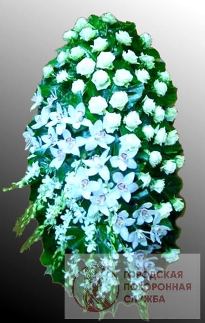 Траурный венок из живых цветов №23