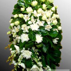 Фото 16 - Траурный венок из живых цветов ВЖЦ-26.