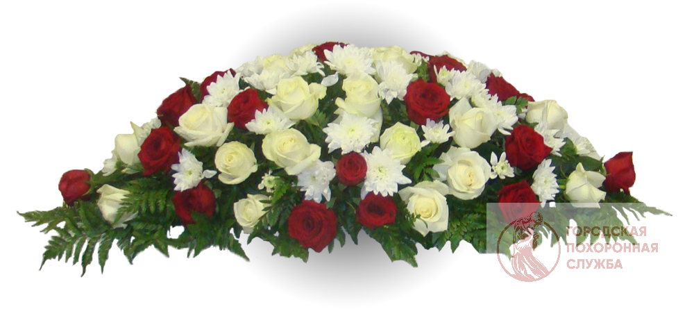 Ветка памяти из живых цветов №1
