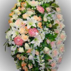 Фото 16 - Элитный венок из искусственных цветов №9.