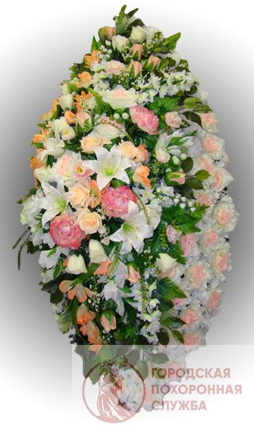 Элитный венок из искусственных цветов заказной №10