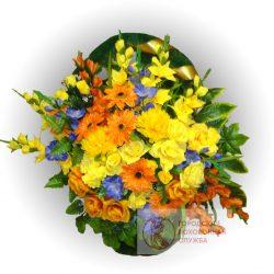 Фото 2 - Ритуальная корзина из искусственных цветов ИК-10.