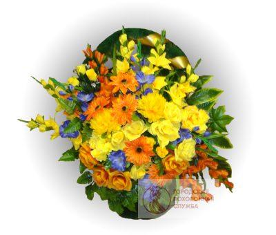 Фото 1 - Ритуальная корзина из искусственных цветов ИК-10.