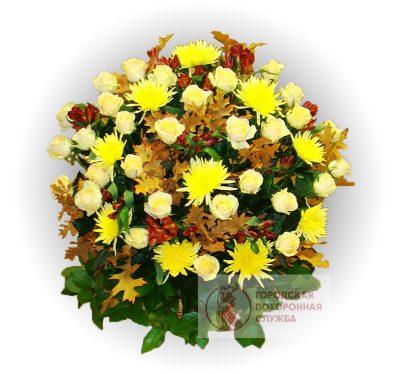 Фото 1 - Ритуальные корзина из живых цветов ЖК-10.