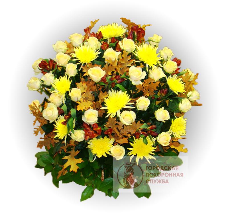 Ритуальная корзина из живых цветов ЖК №10