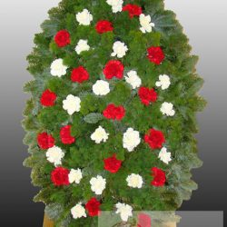 Фото 7 - Элитный ритуальный венок из живых цветов №10.