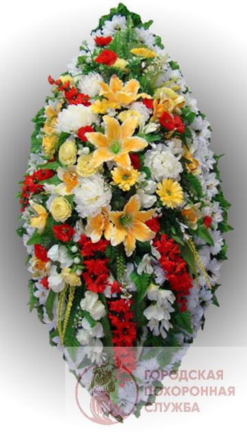 Элитный венок из искусственных цветов заказной №11