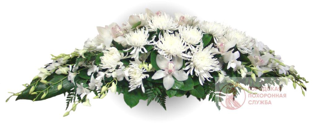 Ветка памяти из живых цветов №11