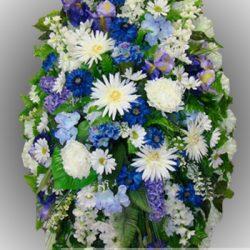 Фото 30 - Элитный венок из искусственных цветов №11.