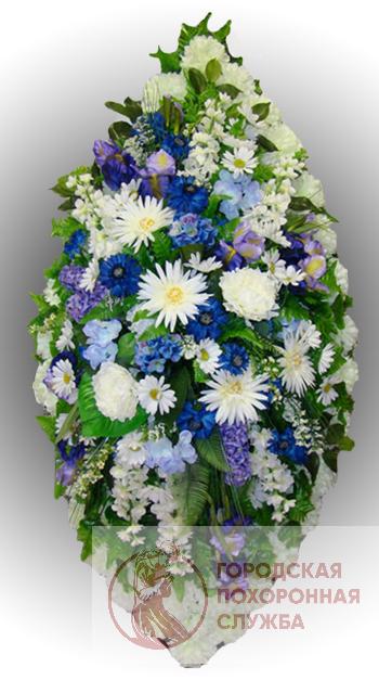 Элитный венок из искусственных цветов заказной №12