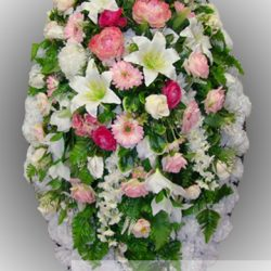 Фото 6 - Элитный венок из искусственных цветов №12.