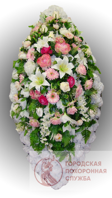 Элитный венок из искусственных цветов заказной №13