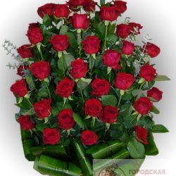 Фото 21 - Ритуальные корзина из живых цветов ЖК-13.