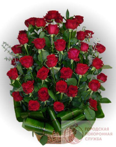 Фото 1 - Ритуальные корзина из живых цветов ЖК-13.