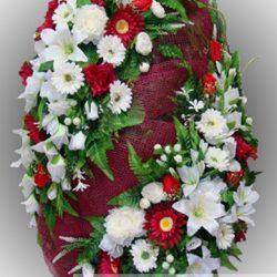 Фото 9 - Элитный венок из искусственных цветов №13.