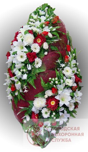 Элитный венок из искусственных цветов заказной №14