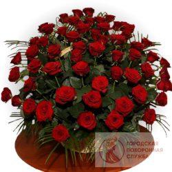 Фото 5 - Ритуальные корзина из живых цветов ЖК-14.