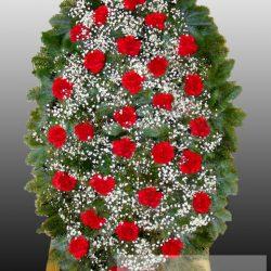 Фото 23 - Элитный ритуальный венок из живых цветов №15.