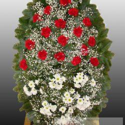 Фото 10 - Элитный ритуальный венок из живых цветов №16.