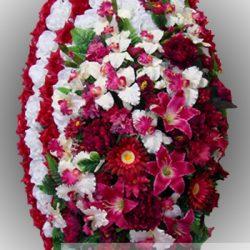 Фото 18 - Элитный венок из искусственных цветов №15.