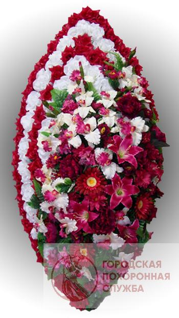 Элитный венок из искусственных цветов заказной №16