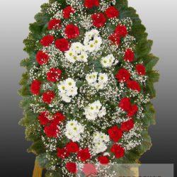 Фото 13 - Элитный ритуальный венок из живых цветов №17.