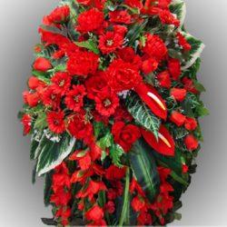 Фото 10 - Элитный венок из искусственных цветов №16.