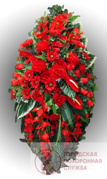 Элитный венок из искусственных цветов заказной №17