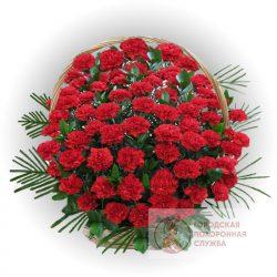 Фото 5 - Ритуальные корзина из живых цветов ЖК-17.