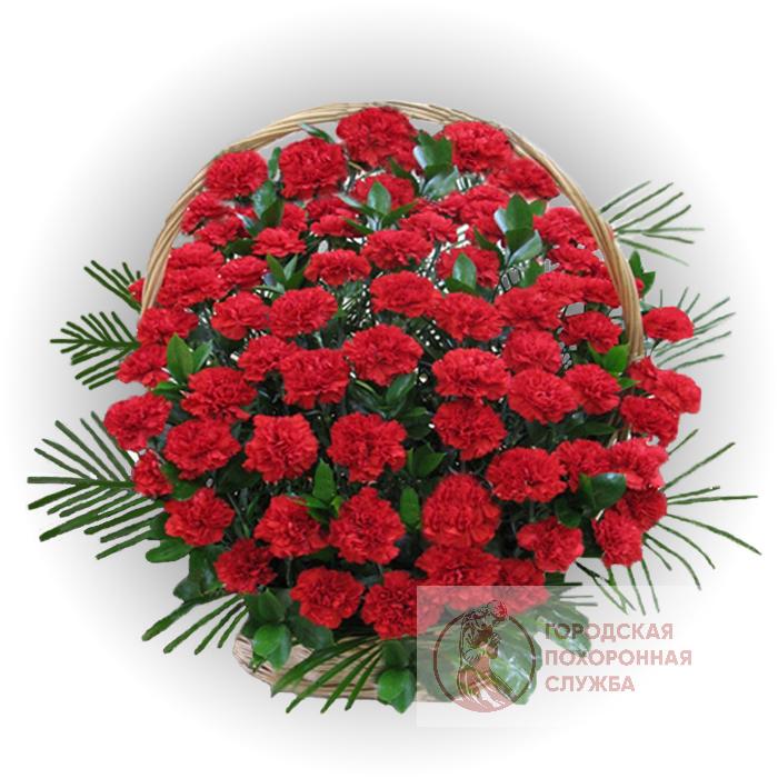Ритуальная корзина из живых цветов ЖК №17