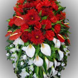 Фото 30 - Элитный венок из искусственных цветов №17.