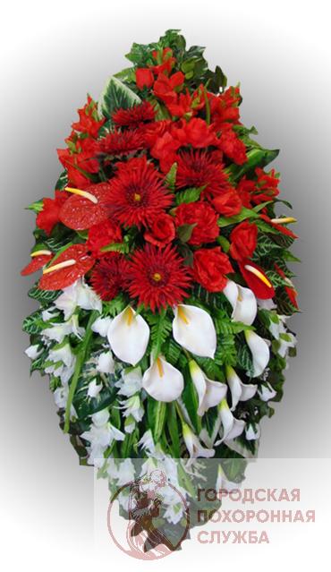 Элитный венок из искусственных цветов заказной №18