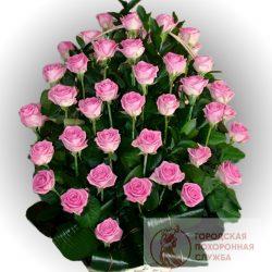 Фото 2 - Ритуальные корзина из живых цветов ЖК-18.