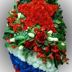 Фото 2 - Элитный венок из искусственных цветов №18.