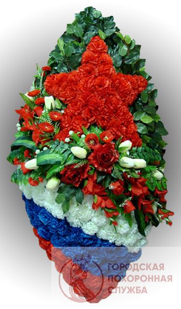 Элитный венок из искусственных цветов заказной №19