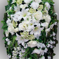 Фото 21 - Элитный венок из искусственных цветов №19.