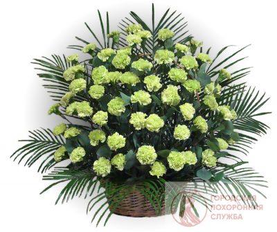 Фото 1 - Ритуальные корзина из живых цветов ЖК-20.