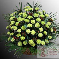 Фото 18 - Ритуальные корзина из живых цветов ЖК-21.
