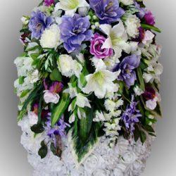 Фото 35 - Элитный венок из искусственных цветов №21.