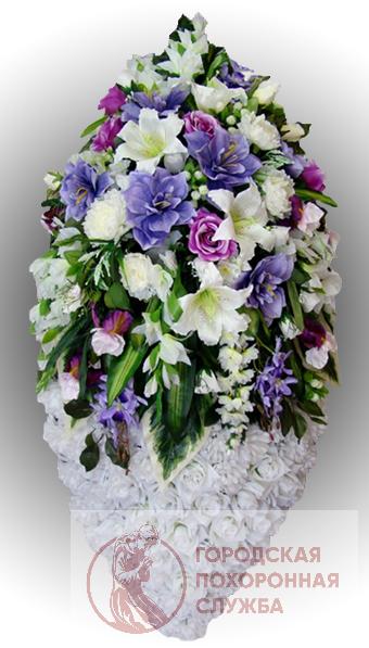 Фото 1 - Элитный венок из искусственных цветов №21.