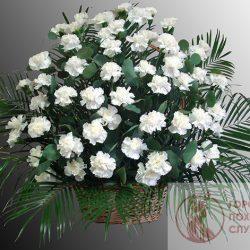 Фото 26 - Ритуальные корзина из живых цветов ЖК-22.