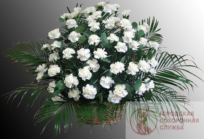 Ритуальная корзина из живых цветов ЖК №22