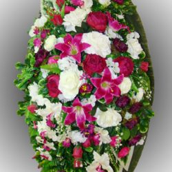 Фото 22 - Элитный венок из искусственных цветов №22.