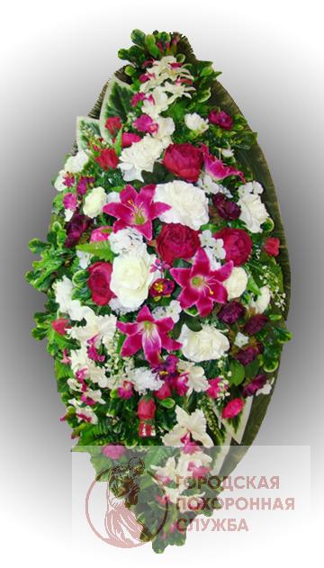 Элитный венок из искусственных цветов заказной №23