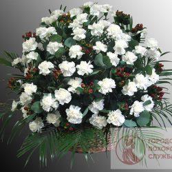 Фото 29 - Ритуальные корзина из живых цветов ЖК-23.