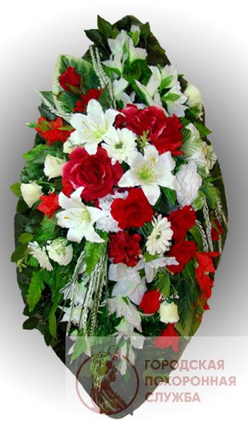 Элитный венок из искусственных цветов заказной №24