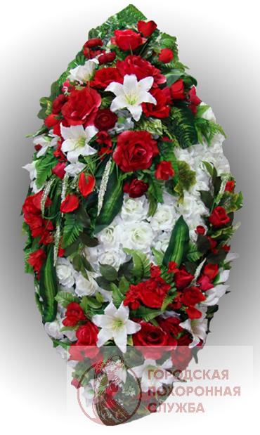 Элитный венок из искусственных цветов заказной №25