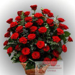 Фото 29 - Ритуальные корзина из живых цветов ЖК-25.